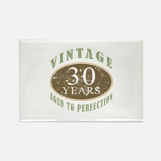 Vintage 30th Birthday Rectangle Magnet