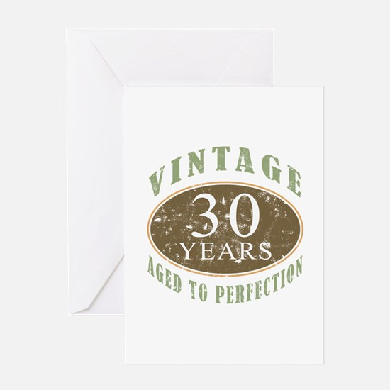 Vintage 30th Birthday Greeting Card