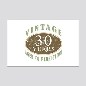 Vintage 30th Birthday Mini Poster Print
