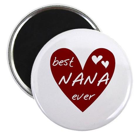 """Heart Best Nana Ever 2.25"""" Magnet (10 pack)"""