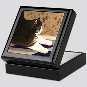 Cat Stretching Keepsake Box