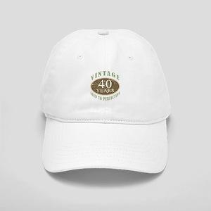 Vintage 40th Birthday Cap