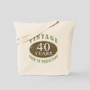 Vintage 40th Birthday Tote Bag