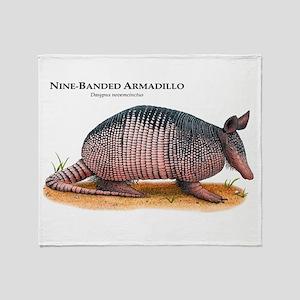 Nine-Banded Armadillo Throw Blanket
