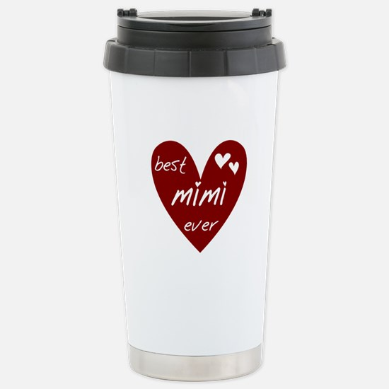 Heart Best Mimi Ever Stainless Steel Travel Mug
