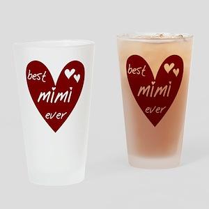 Heart Best Mimi Ever Drinking Glass