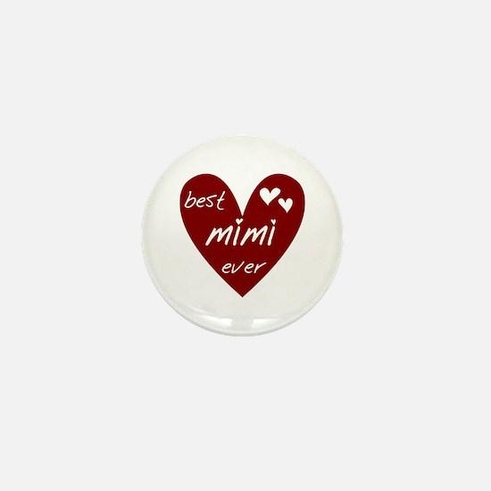 Heart Best Mimi Ever Mini Button