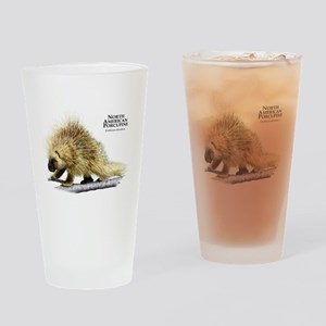 North American Porcupine Drinking Glass