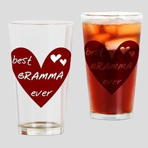 Heart Best Gramma Ever Drinking Glass
