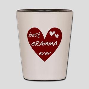 Heart Best Gramma Ever Shot Glass