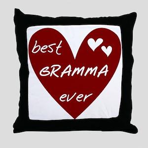 Heart Best Gramma Ever Throw Pillow