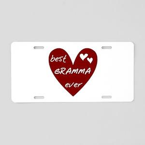 Heart Best Gramma Ever Aluminum License Plate