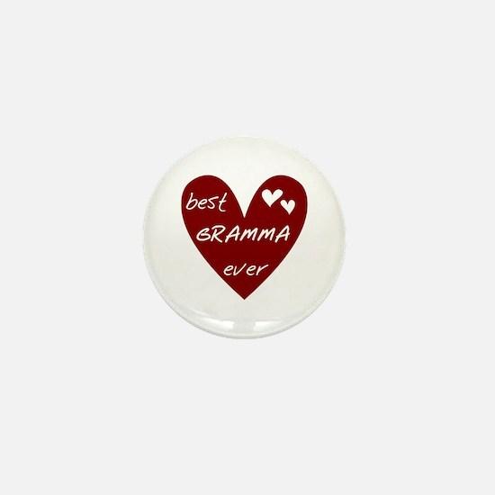 Heart Best Gramma Ever Mini Button