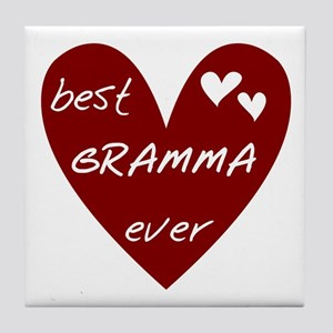 Heart Best Gramma Ever Tile Coaster