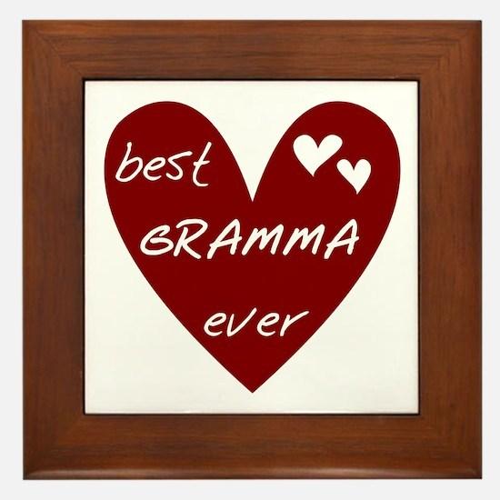 Heart Best Gramma Ever Framed Tile