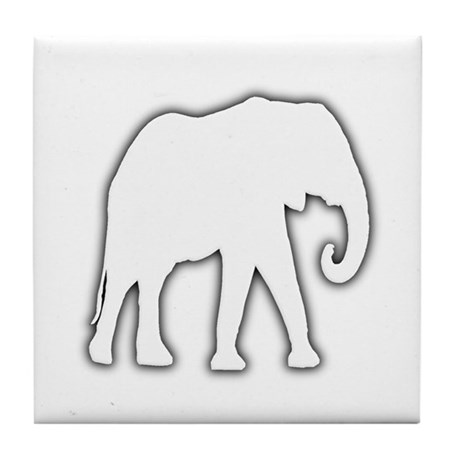 white elephant gift christmas gag joke tile coaste