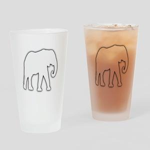 White Elephant Gift Christmas Gag Joke Drinking Gl
