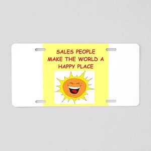 sales person Aluminum License Plate