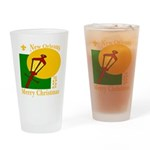 New Orleans Christmas Drinking Glass