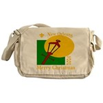 New Orleans Christmas Messenger Bag