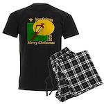 New Orleans Christmas Men's Dark Pajamas