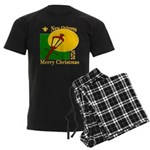 New Orleans Christmas Men's Dark Pajamas