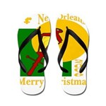 New Orleans Christmas Flip Flops