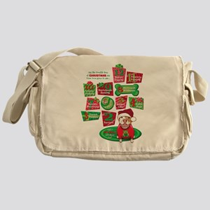 12 Dogs of Christmas Messenger Bag