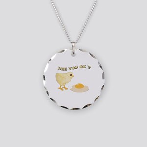 Are you O.K ? Necklace Circle Charm