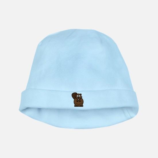 Beaver baby hat