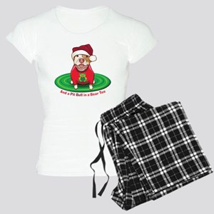 And a Pit Bull in a Bear Tee Women's Light Pajamas