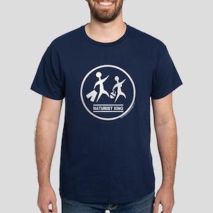 Naturist Xing Dark T-Shirt (white design)