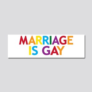 Marriage is Gay Car Magnet 10 x 3
