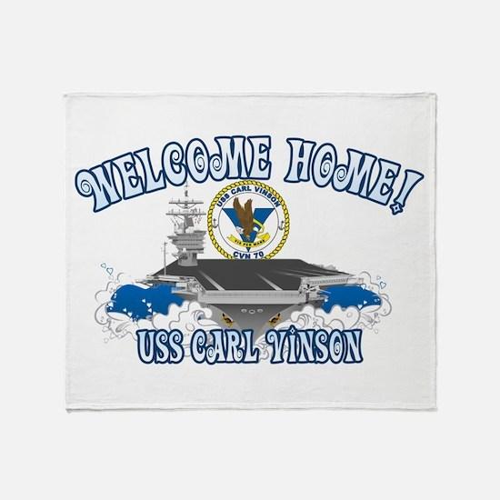 Welcome Carl Vinson! Throw Blanket