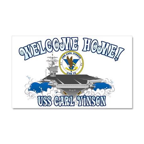 Welcome Carl Vinson! Car Magnet 20 x 12