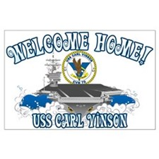 Welcome Carl Vinson! Large Poster