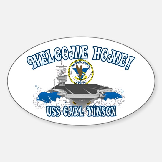 Welcome Carl Vinson! Sticker (Oval)