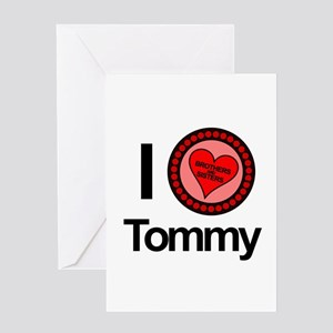 I Love Tommy Brothers & Sisters Greeting Card