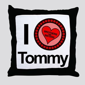 I Love Tommy Brothers & Sisters Throw Pillow