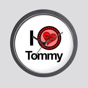 I Love Tommy Brothers & Sisters Wall Clock