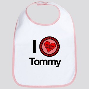I Love Tommy Brothers & Sisters Bib