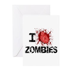 I Heart Zombies Greeting Cards (Pk of 20)