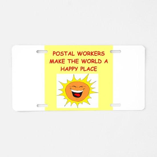 mailmen Aluminum License Plate