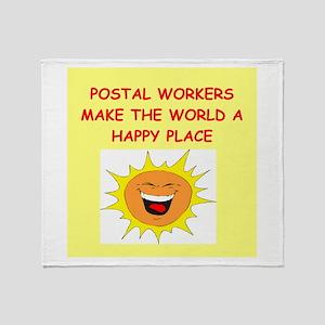 mailmen Throw Blanket