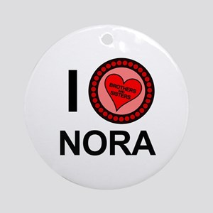 I Love Nora Brothers & Sisters Ornament (Round)