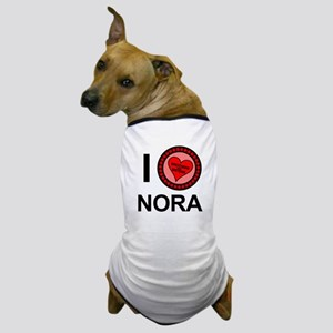 I Love Nora Brothers & Sisters Dog T-Shirt