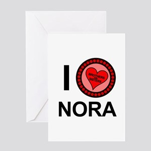 I Love Nora Brothers & Sisters Greeting Card