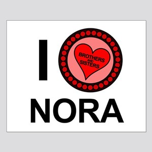 I Love Nora Brothers & Sisters Small Poster