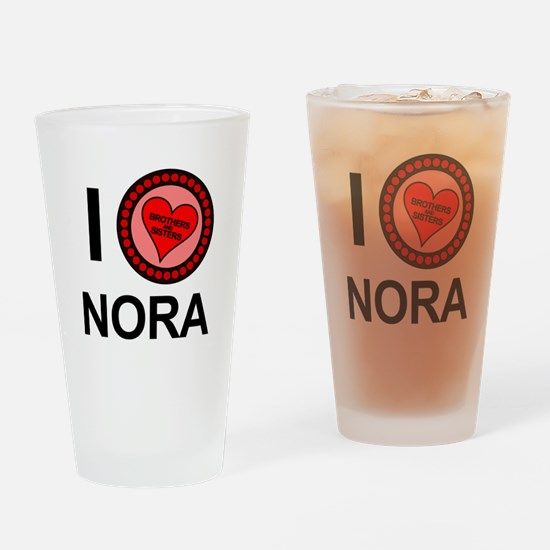 I Love Nora Brothers & Sisters Drinking Glass