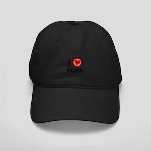 I Love Nora Brothers & Sisters Black Cap